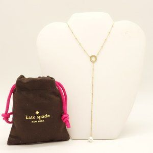 NWT KATE SPADE Chantilly Charm Gold Necklace